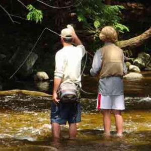 Trout fishing the brewster river