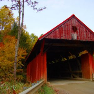 Red Covered Bridge, Morristown Vermont. Photo: LaraDickson