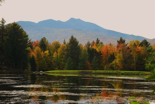 Mount Mansfield vemont in fall