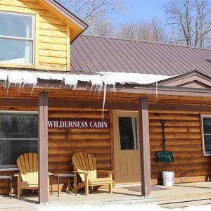 STerling ridge's 3 bedroom wilderness cabin in winter