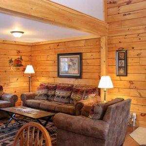 Wilderness Cabin living room