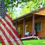 Vermont log cabin vacation freedom