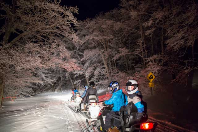 thing to do this winter snowmobile tour