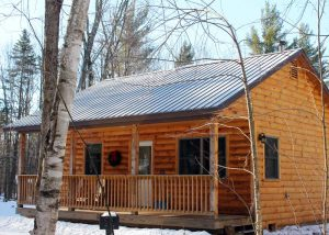 warm winter cabins at sterling ridge vermont