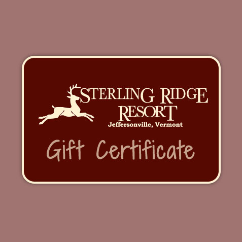 Gift Certificate to Sterling Ridge Resort, Jeffersonville, VT