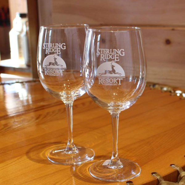 Wine glass with Sterling Ridge Resort