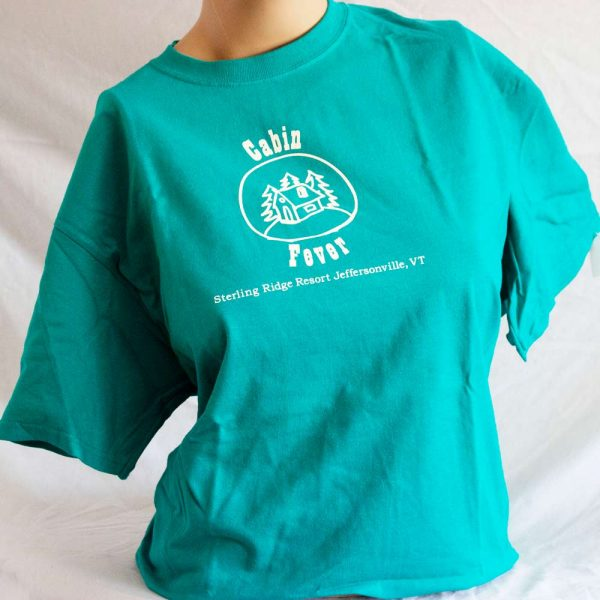 Teal T Shirt Cabin Fever