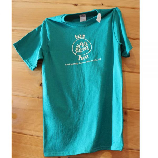Teal cabin fever t shirt