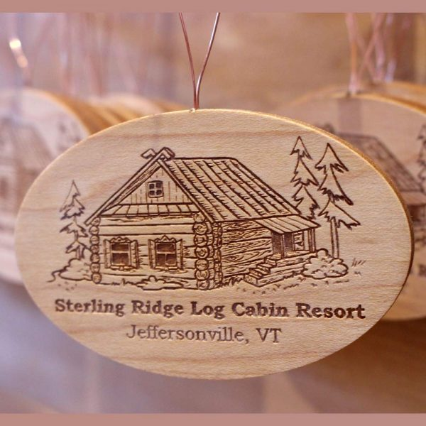 Wooden ornament Sterling Ridge Log Cabin Resort