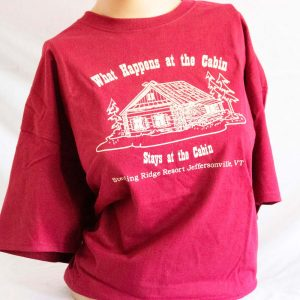 What Stays at the Cabin T Shirt – Red