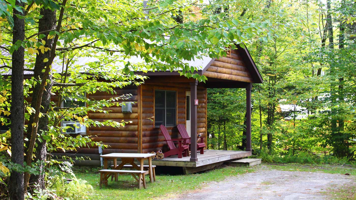 romantic cabin in Vermont | Sterling Ridge Resort
