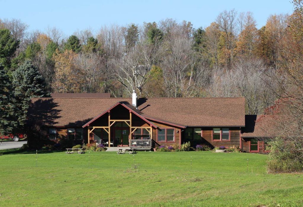 Front of mansfield house in fall | Sterling Ridge Resort