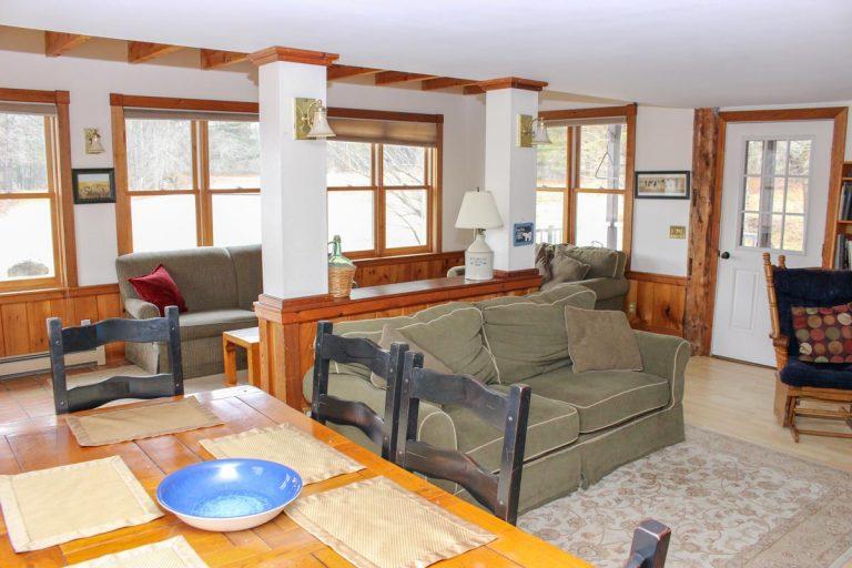Pond house living area | Group Travel at Sterling Ridge Log Cabin Resort