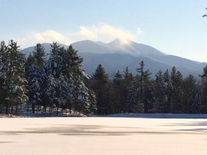 winter view of mount mansfield