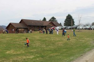 Easter Egg Hunt at Sterling Ridge under 5 field