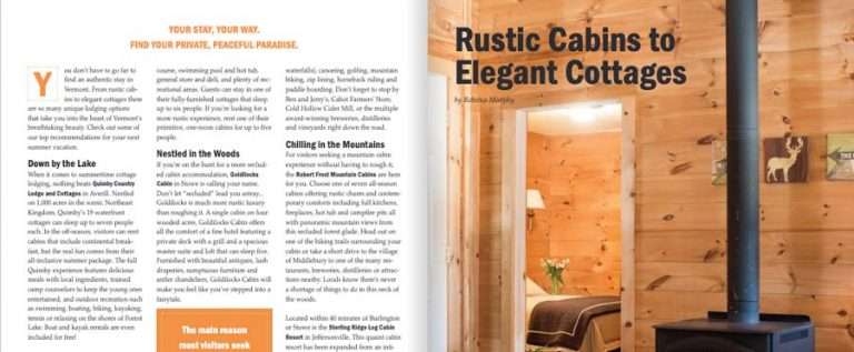 Rustic Cabins in Vermont | Vermont Vacation Guide 2019