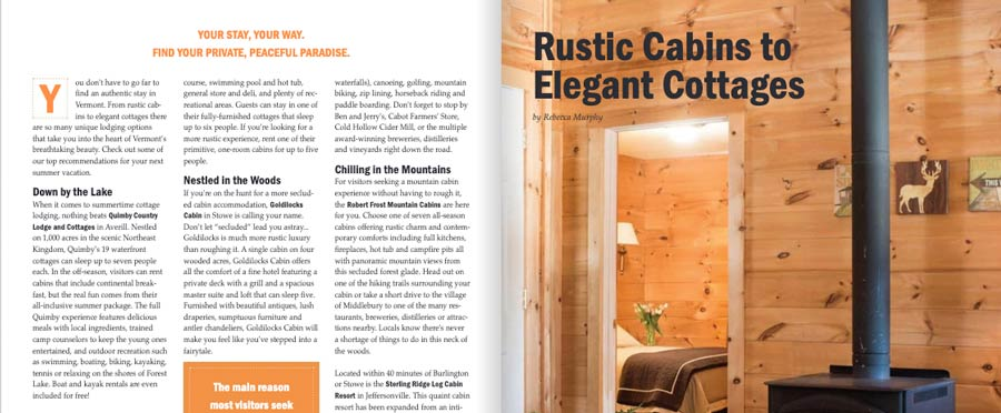 vermont vacation guide article rustic cabins 2019