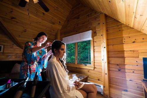 cabin wedding in vermont