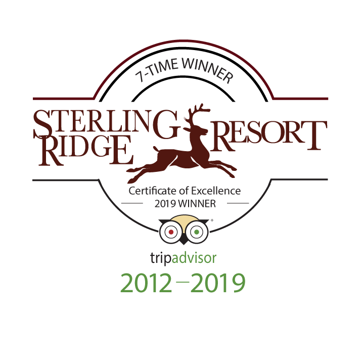 Sterling Ridge Resort Trip Advisor logo - Certificate of Excellence Winner