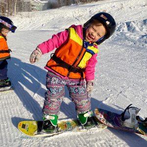 kids ski family