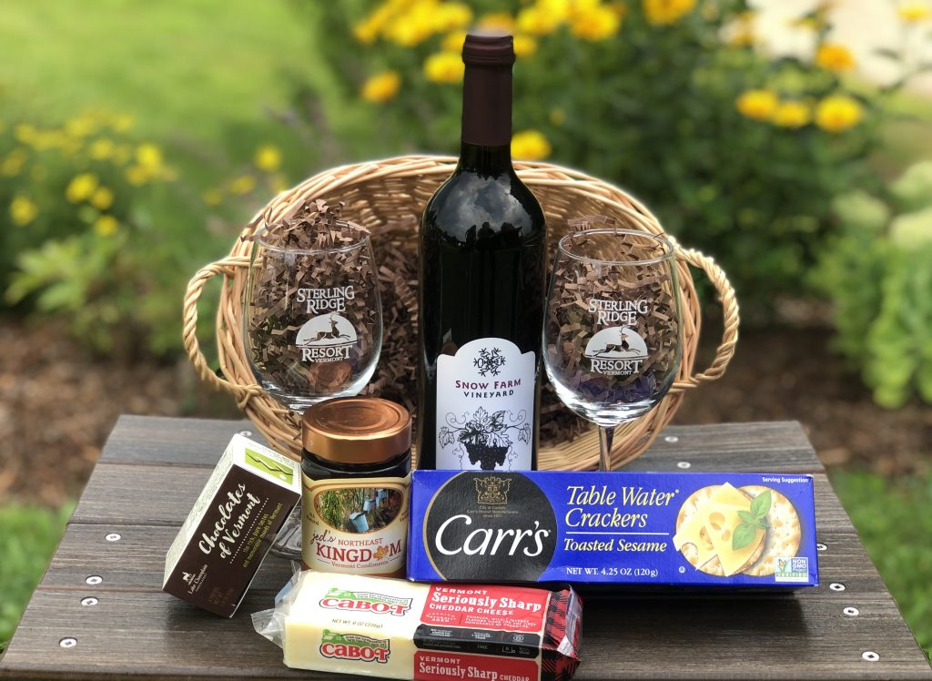 taste of Vermont wine and cheese basket