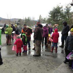 Children getting ready for the Easter egg hunt at Sterling Ridge