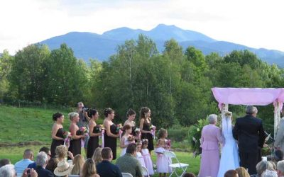 log cabin resort wedding